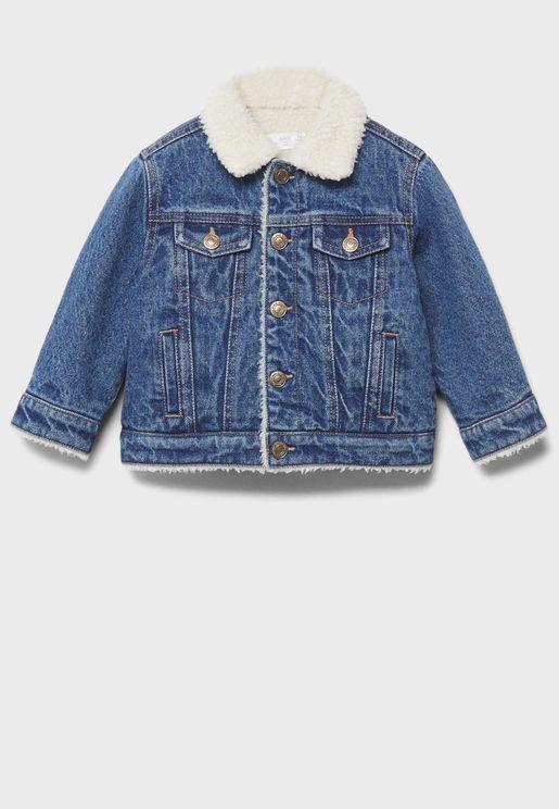 Infant Shearling Denim Jacket