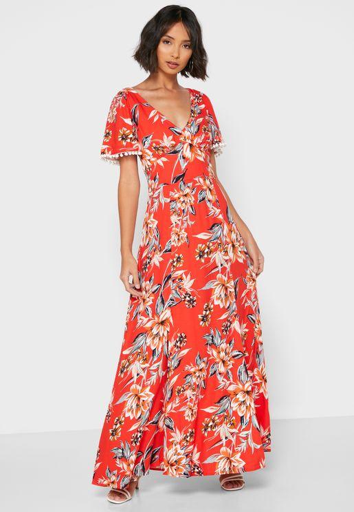 Claribel Floral Print Dress