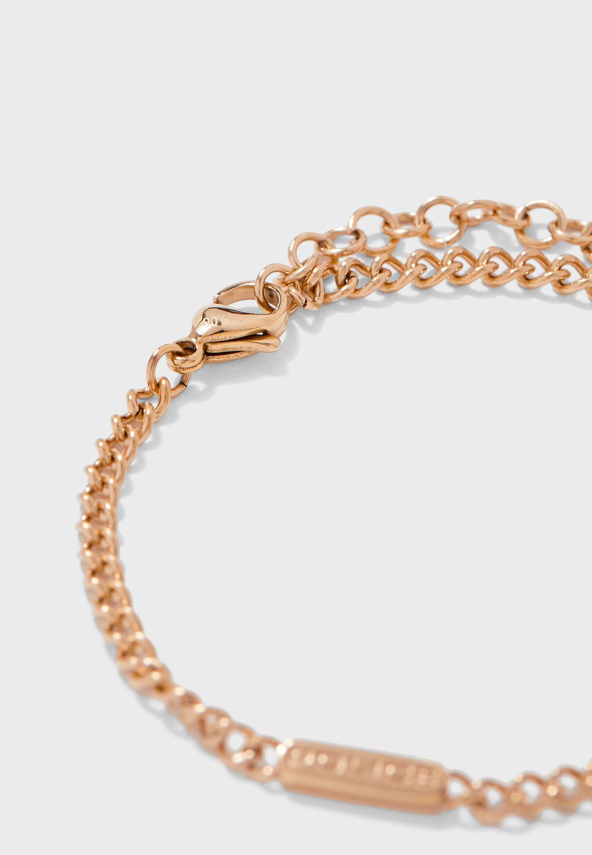 Chain Link Stone Bracelet