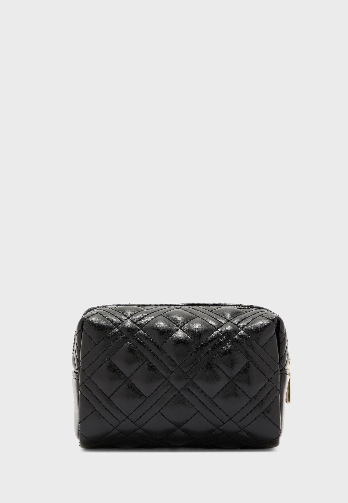 Quilted Zip Closure Purse