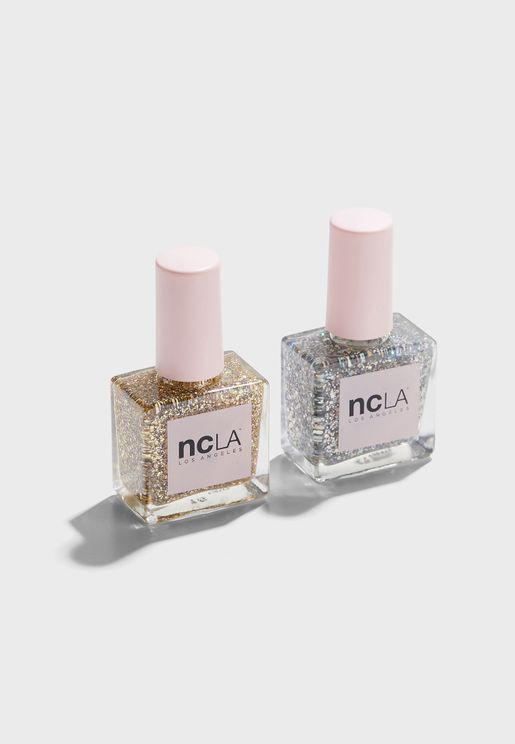 Hollywood Glam Glitter Duo Nail Set