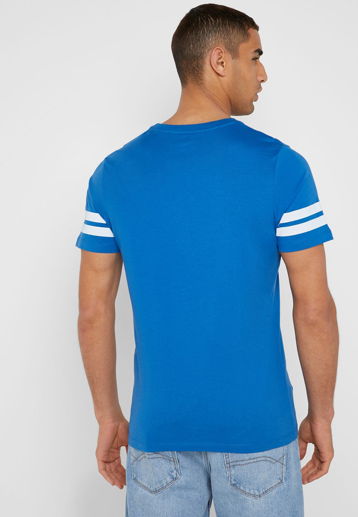 Blue Love Crew Neck T-Shirt