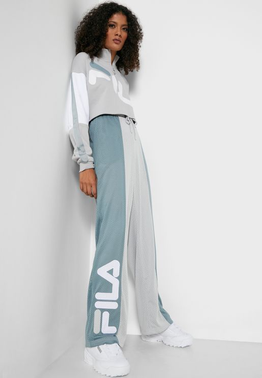 Lucinda Mesh Wide Leg Sweatpants