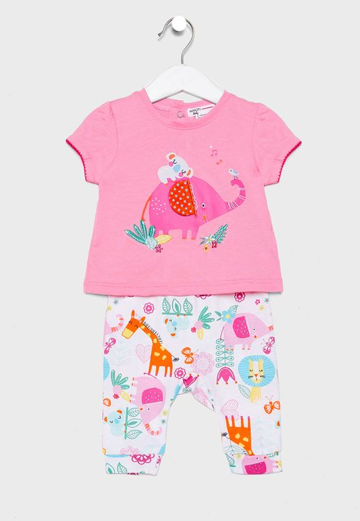 Infant Graphic T-Shirt+Pant Set