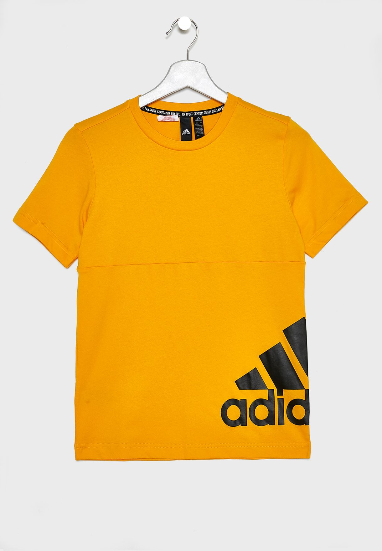 748d7efa2 Shop adidas yellow Youth Must Have Badge Of Sport T-Shirt ED6462 for ...