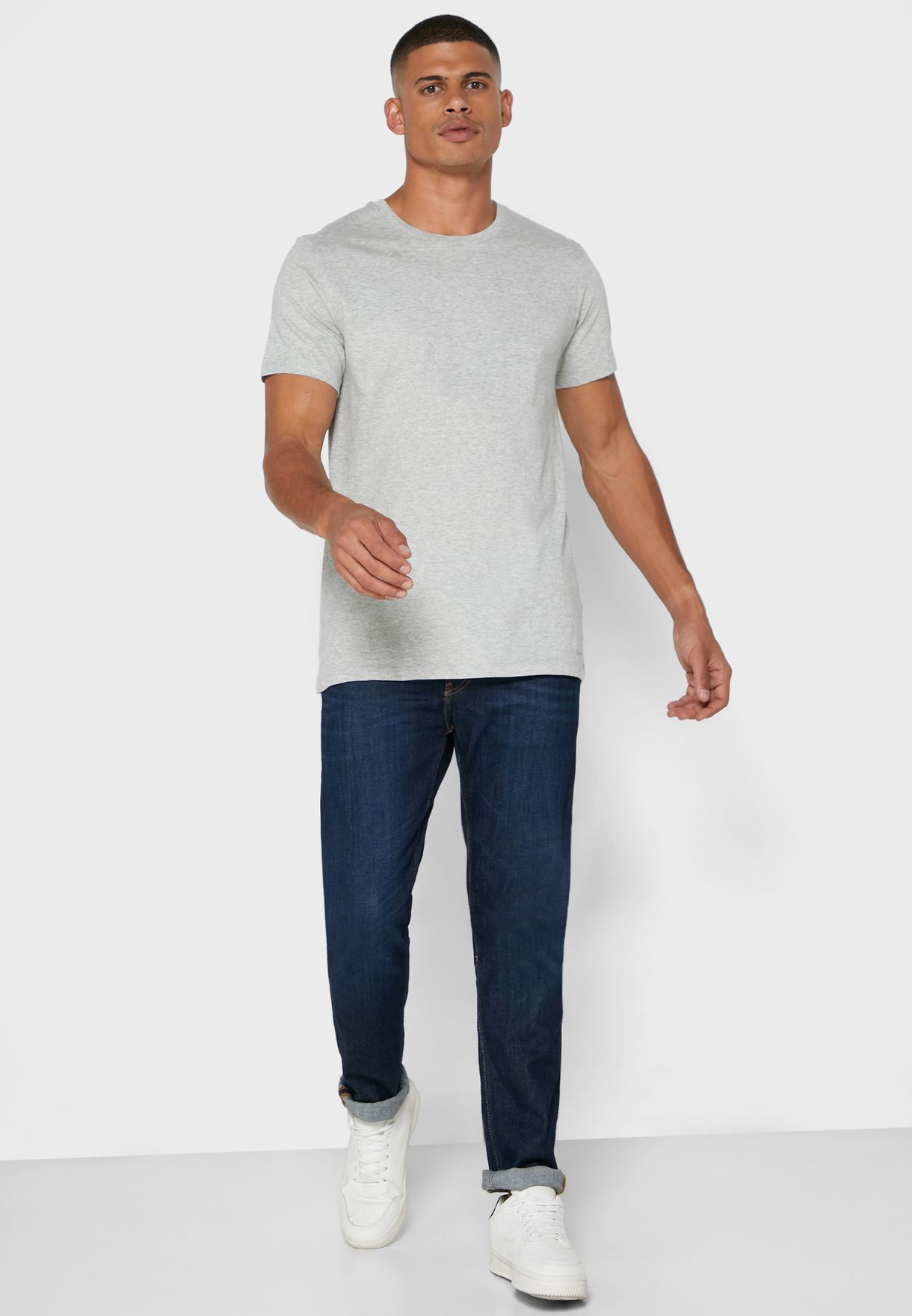 3 Pack Crew Neck Assorted T-Shirt