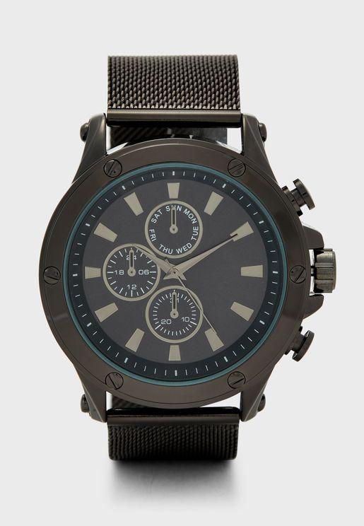 Wahren Analog Watch