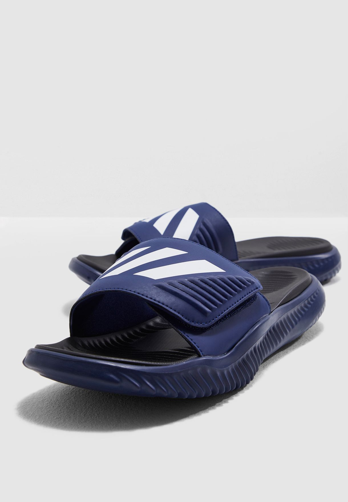 85ba815190034 Shop adidas navy Alphabounce Slide F34774 for Men in Saudi ...
