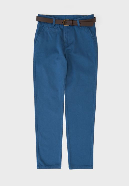 Kids Casual Trouser With Belt