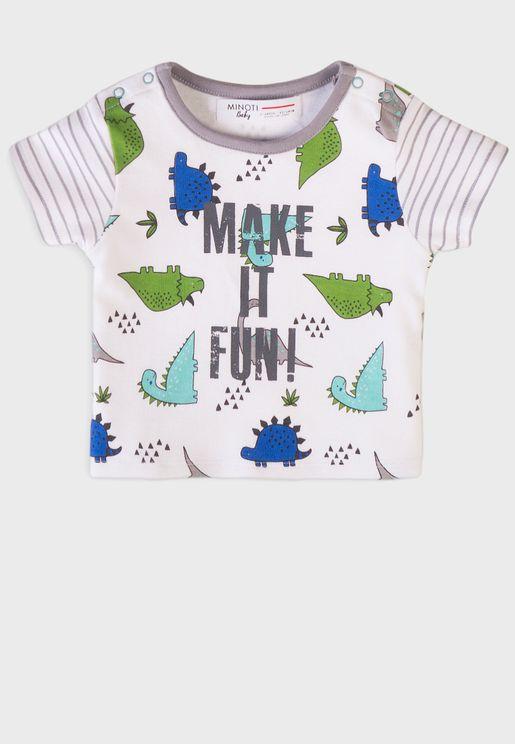 Infant Boys Dinosaur Aop Tshirt