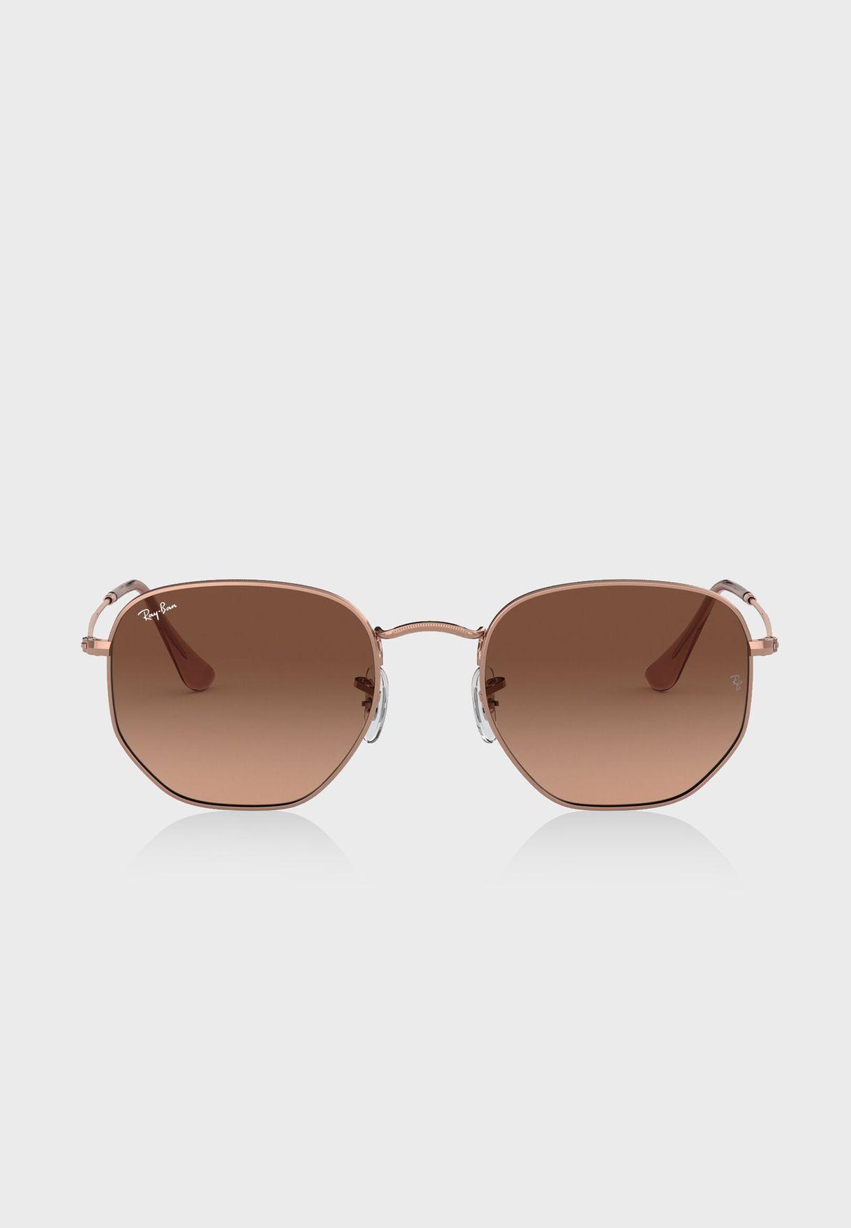 0RB3548N Hexagonal Sunglasses