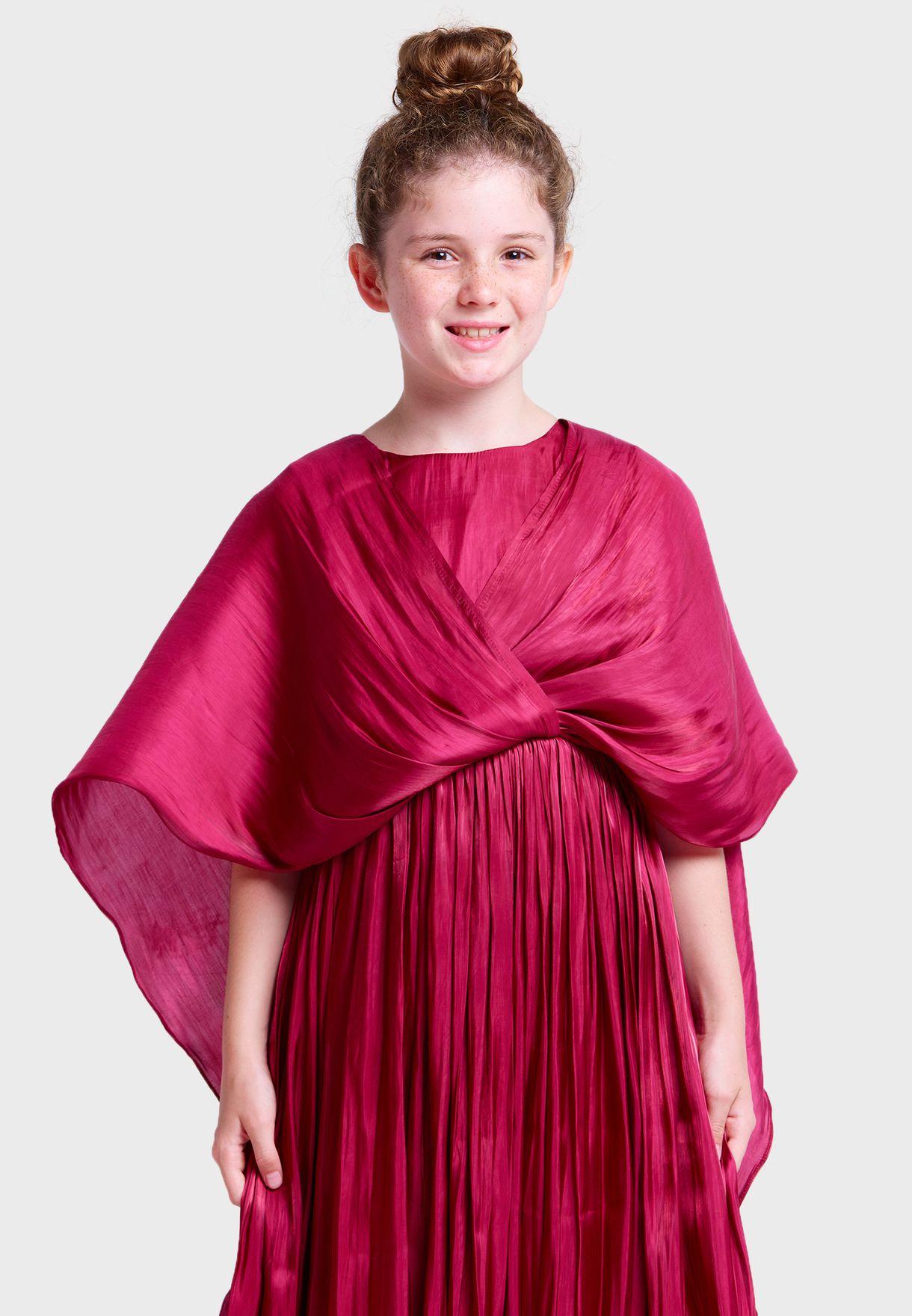 فستان ساتان للاطفال