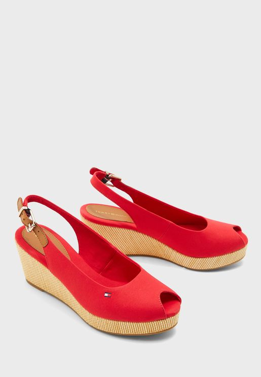 Iconic Elba Sling Back Wedge Sandal