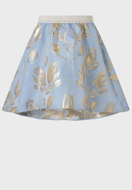Kids Tulip Jacquard Skirt