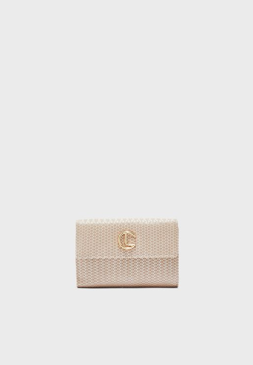Flap Logo Purse