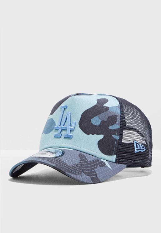 0a61cc20b38 9Forty Los Angeles Dodgers Camo Trucker Cap