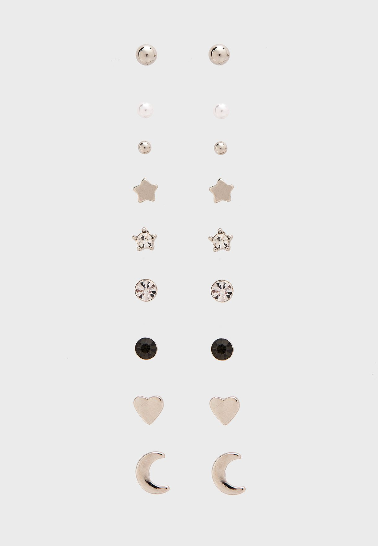 Multipack Mixed Tiny Stud Earrings