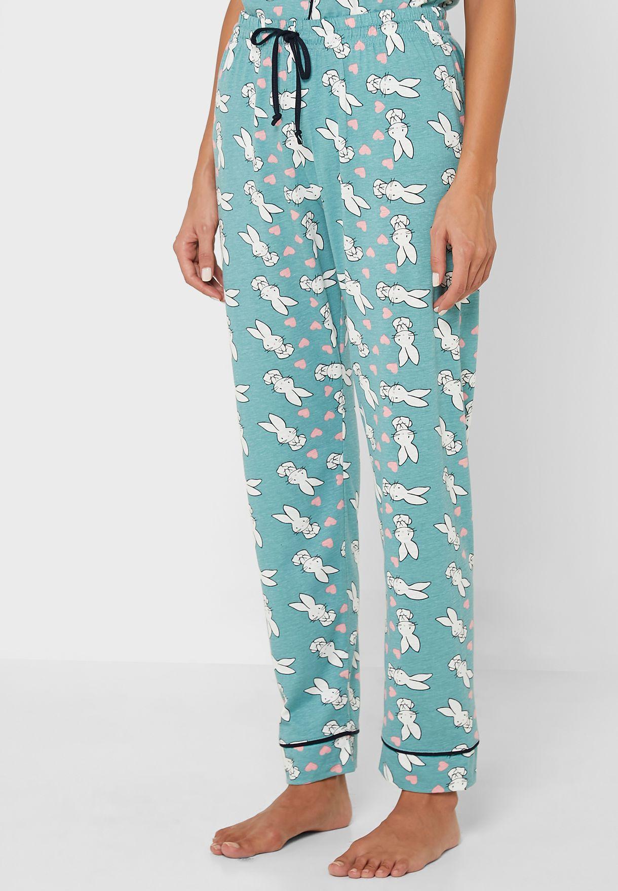 Printed Shirt & Pants Set