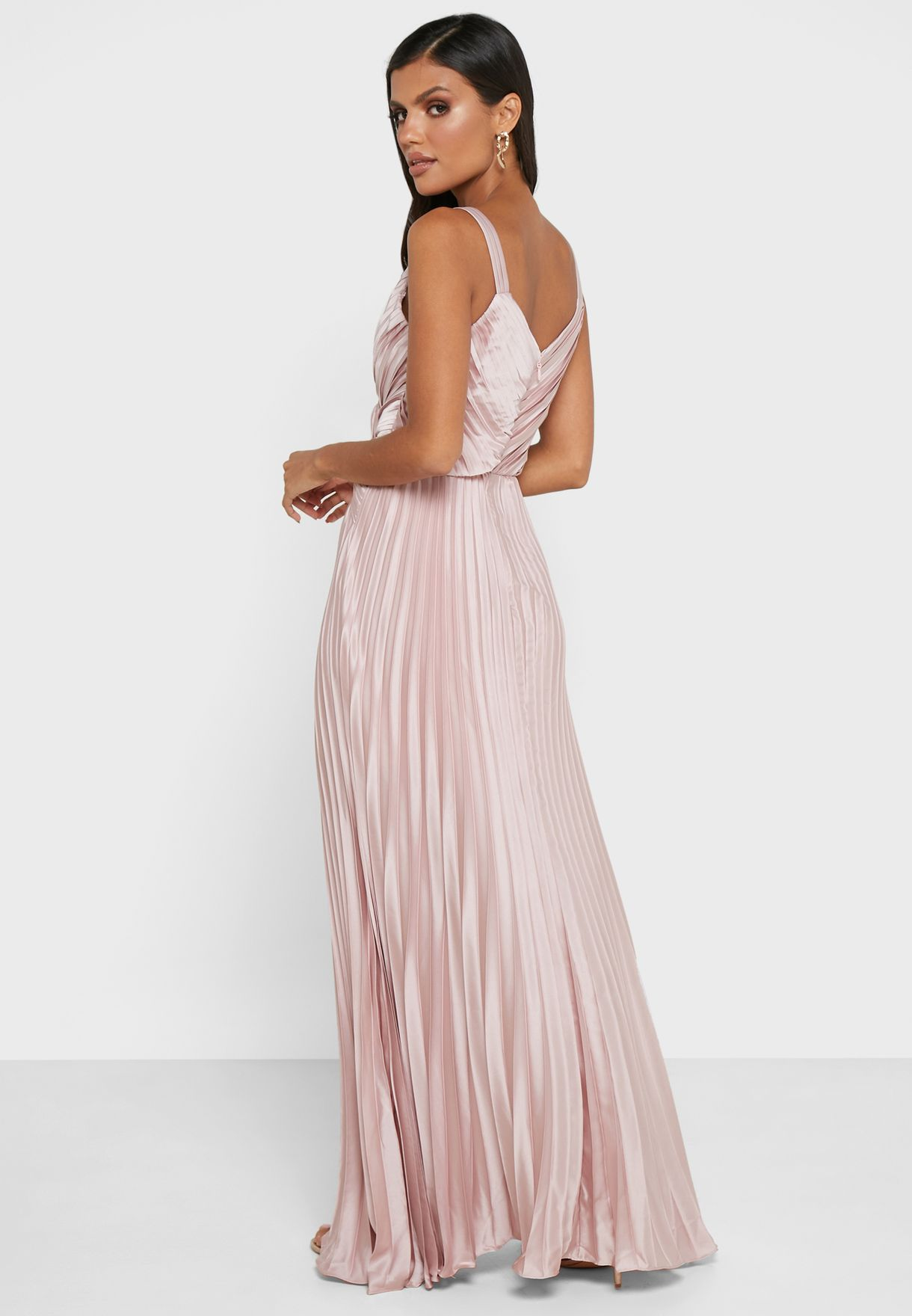 Camila Pleated Wrap Dress
