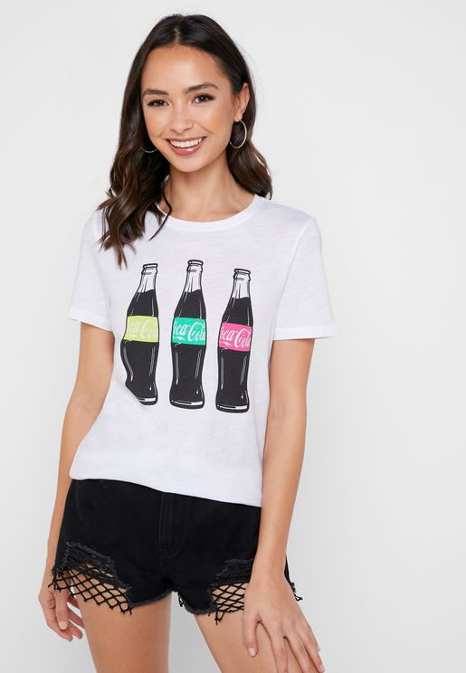 Coke Print Short Sleeve T-shirt
