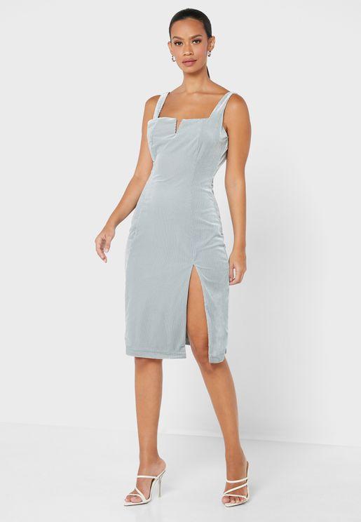 Bandeau Shimmer Dress