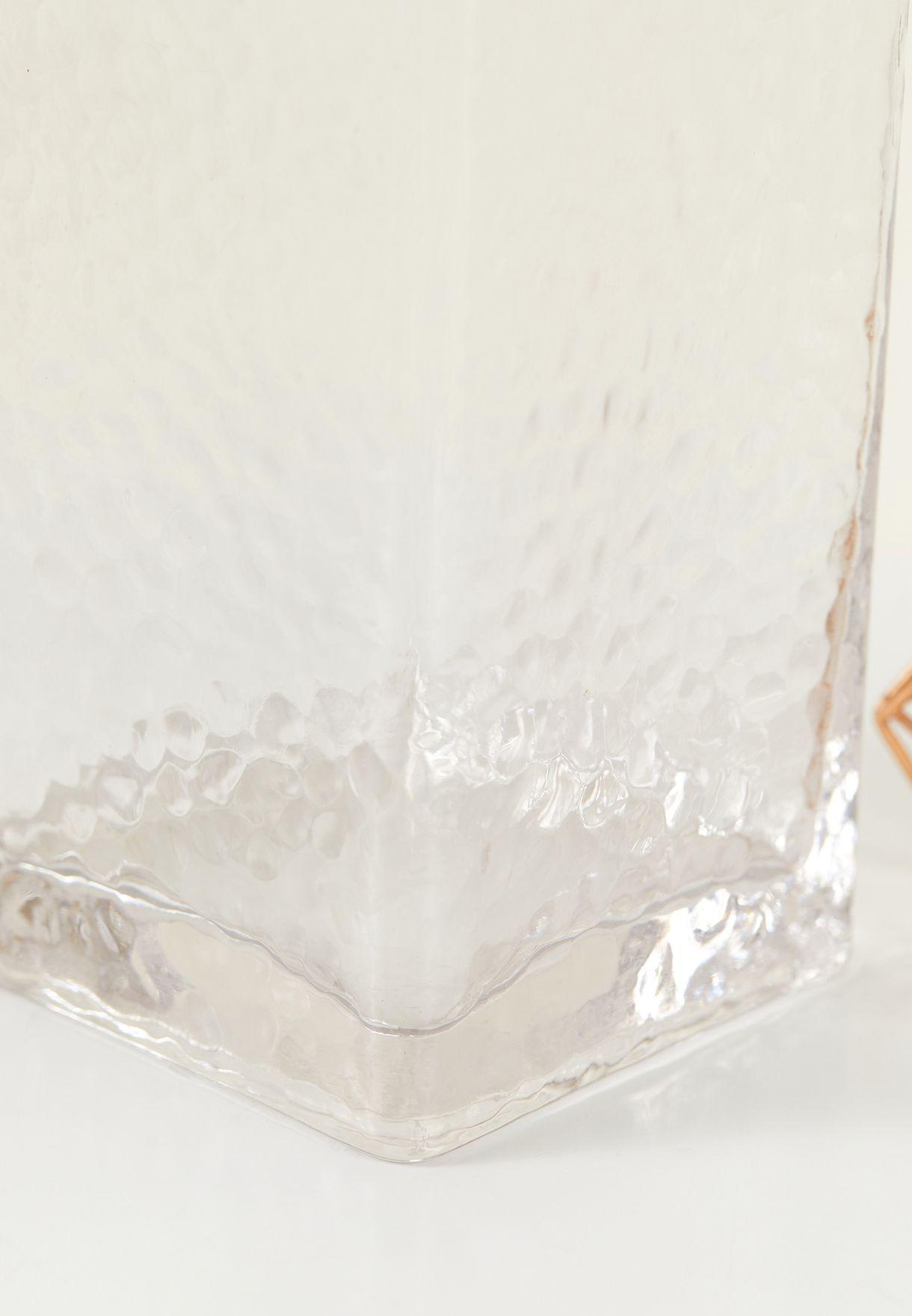 Gold Rim Glass Vase
