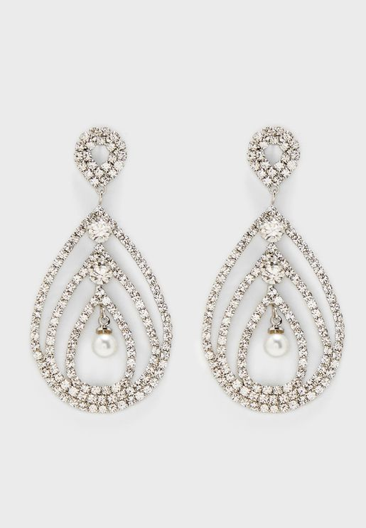 Diamante Droplet Earrings