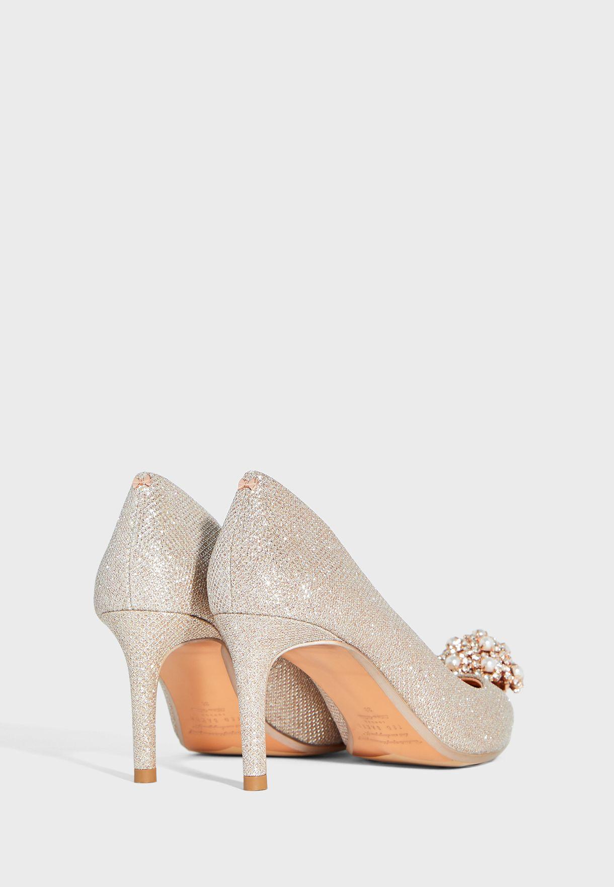 Darlill Silver Court Pump Shoe - Silver