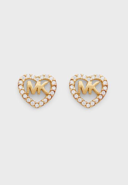 Logo Heart Stud Earring