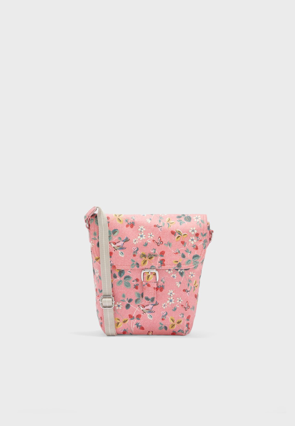 Birds And Berries Buckle Crossbody