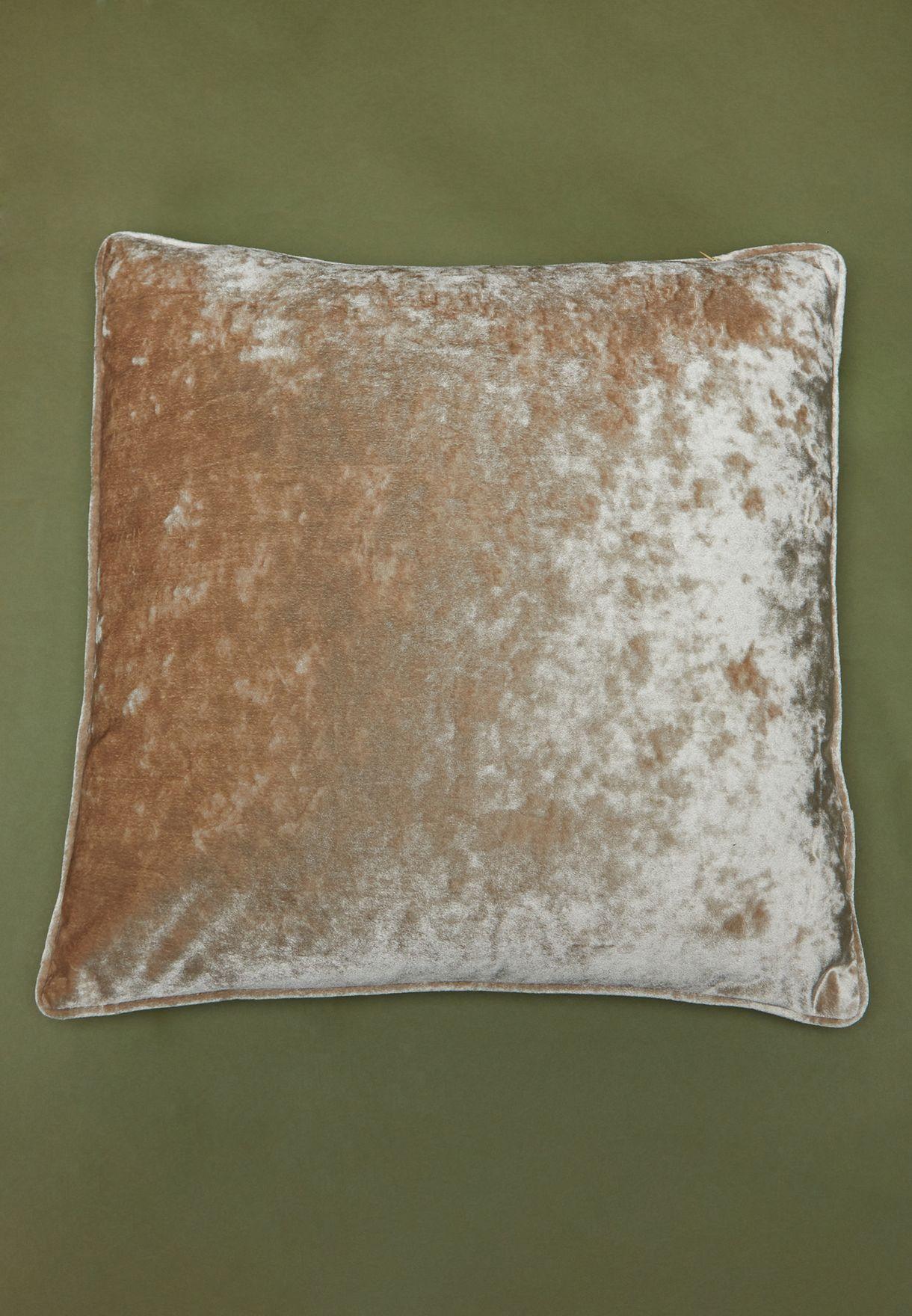 Champagne Velvet Cushion With Insert 50cm x 50cm