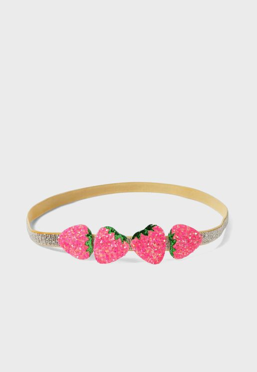 Kids Strawberry Detail Headband