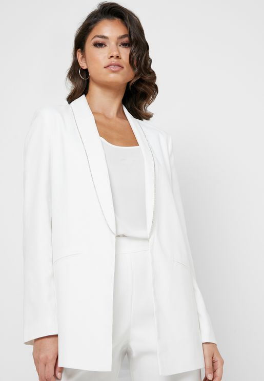 Diamante Trim Blazer