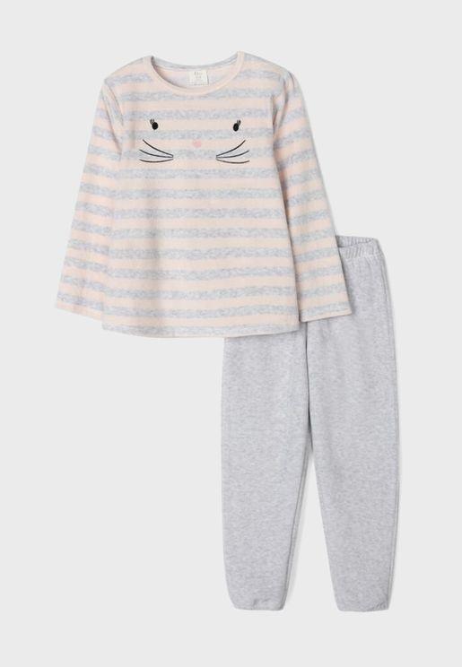 Kids Striped Pyjama Set