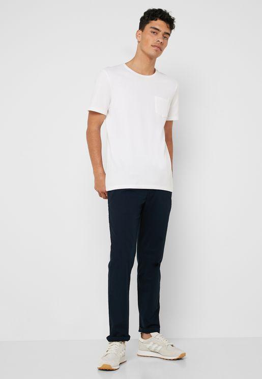 Roma Elastic Waist Slim Fit Trousers