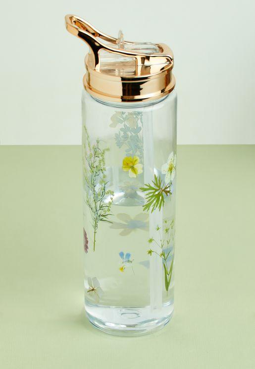 Dried Flowers Water Bottle