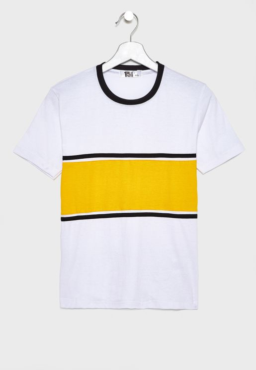 Color Block Crew Neck T-shirt