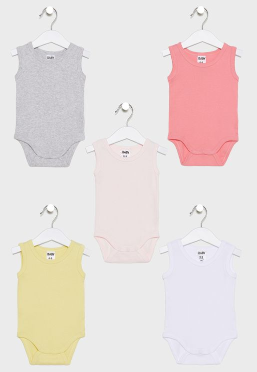 Kids 5 Pack Bodysuit