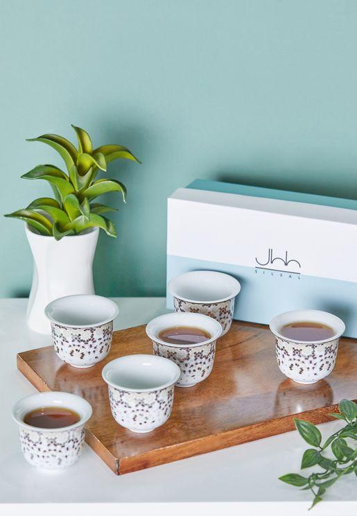 طقم فناجين قهوة من عربي 6 قطع