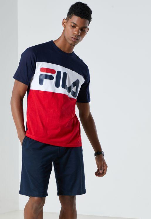 Cut & Sew Printed T-Shirt