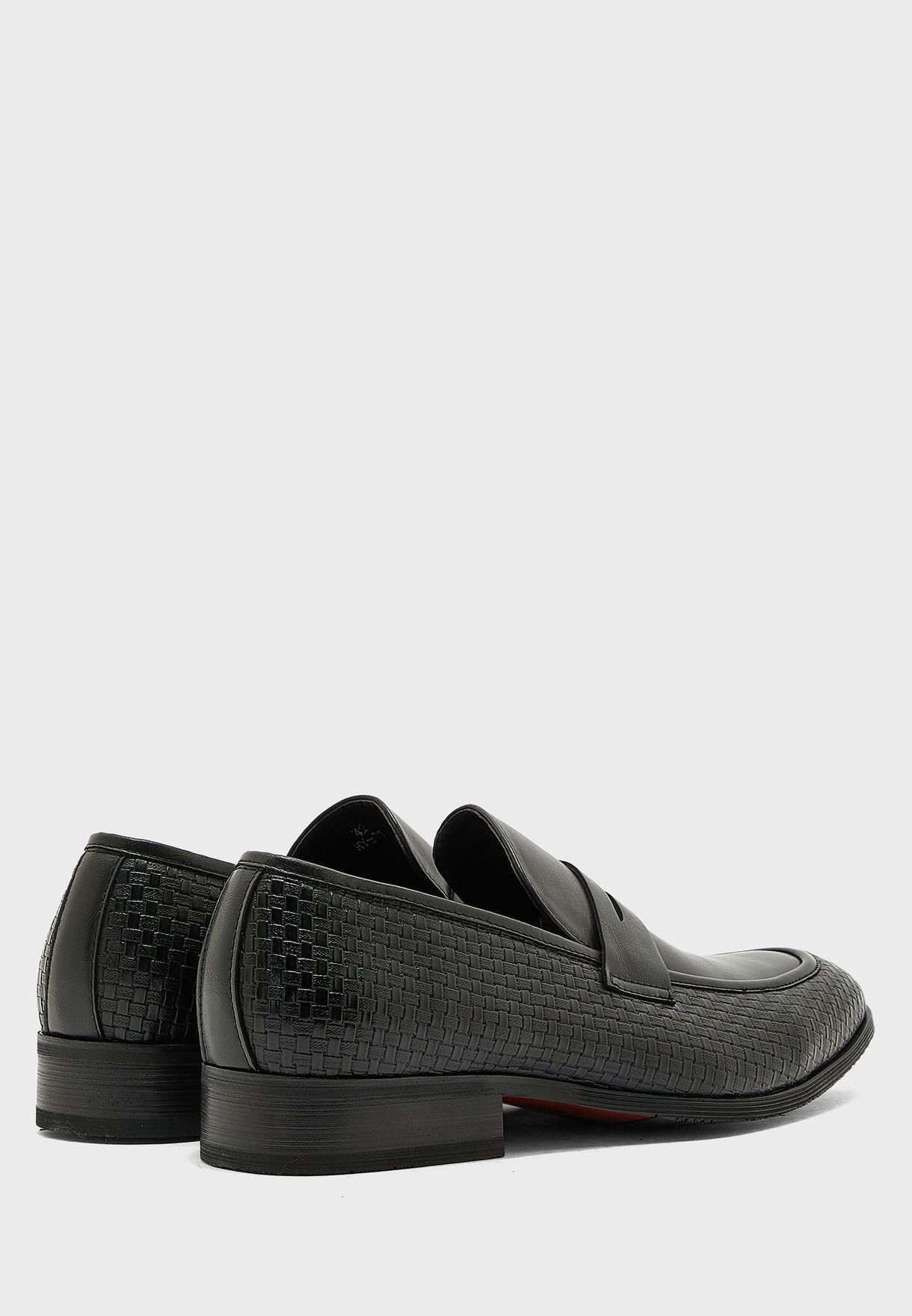 Textured Formal Slip Ons