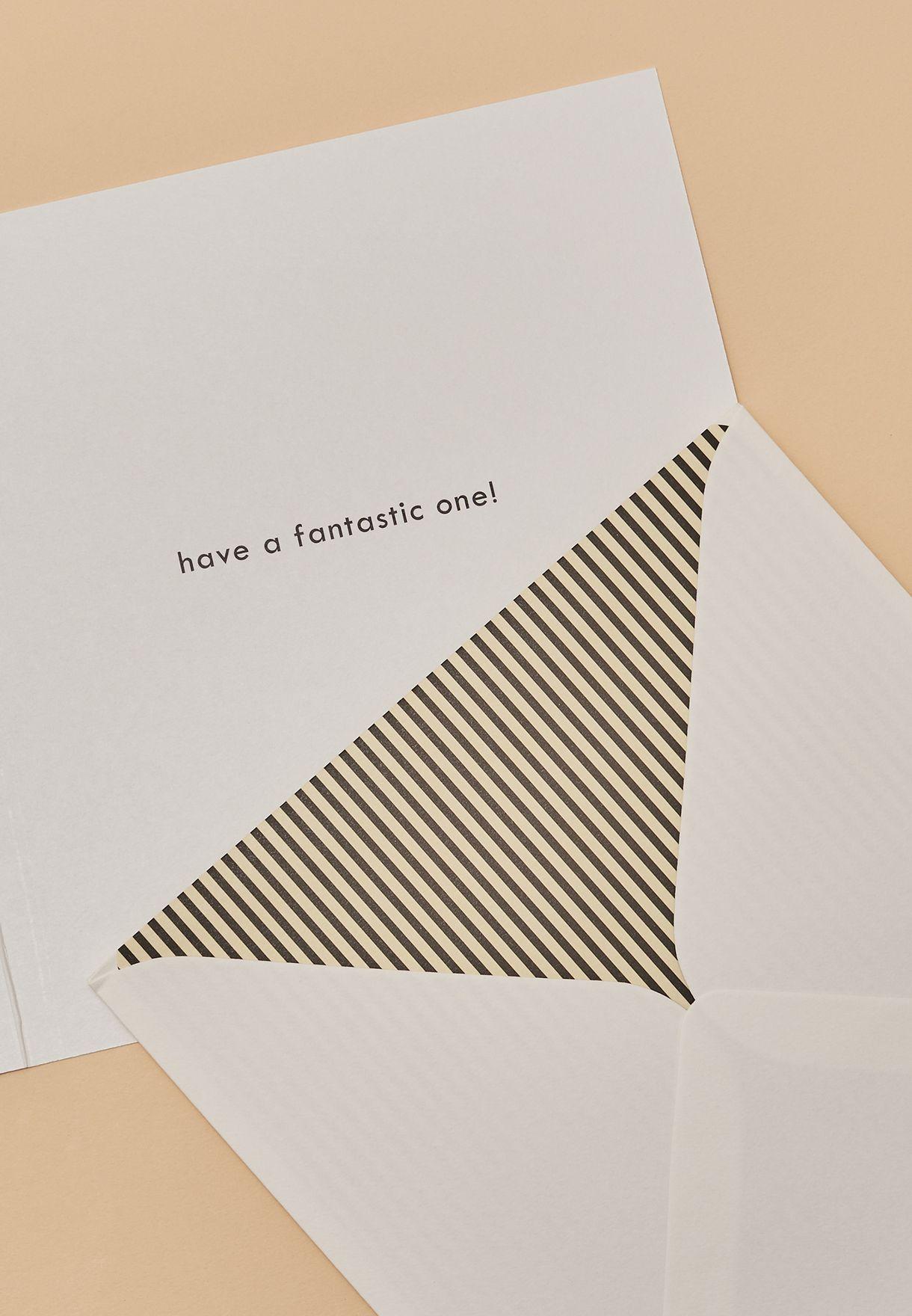 بطاقة تهنئة مزينة بطباعة كتابة
