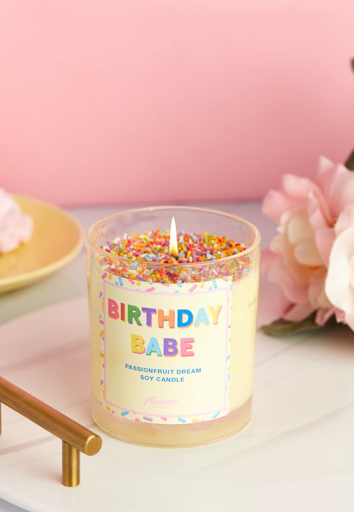 Passionfruit Martini Birthday Babe Sprinkle Candle