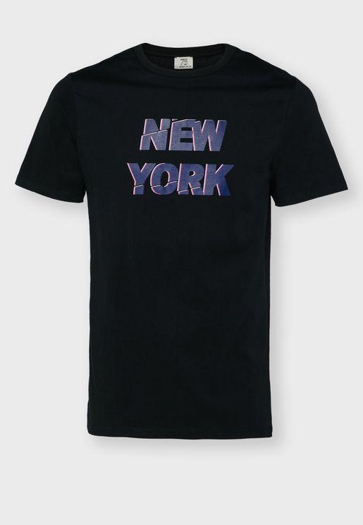 New York Print T Shirt