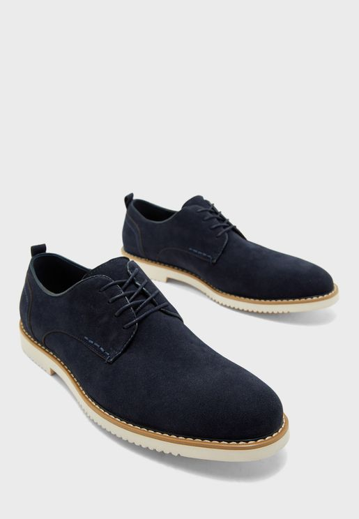Faux Suede Casual Lace Up