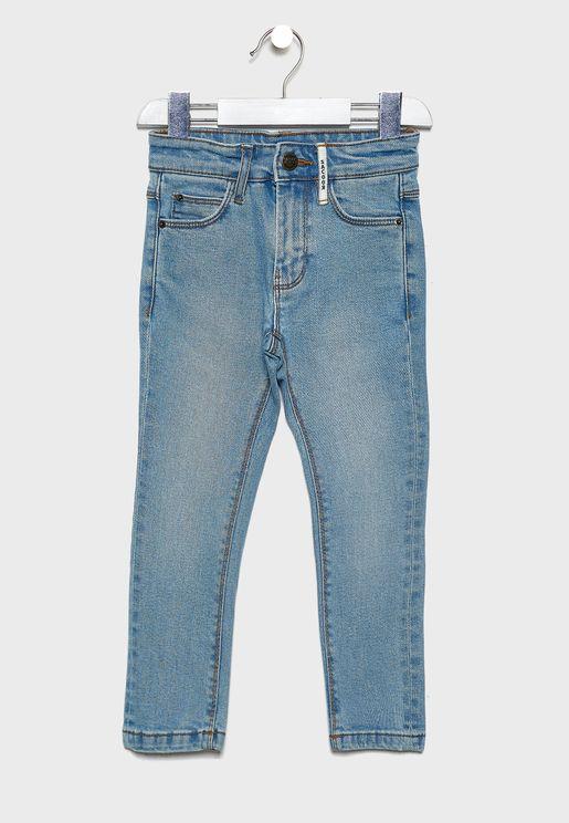 Kids Folded Hem Jeans