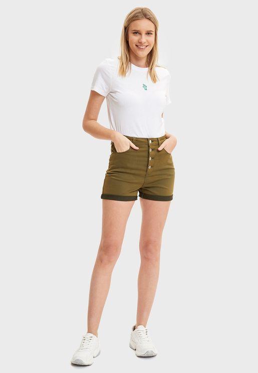Tie Waist Mini Shorts