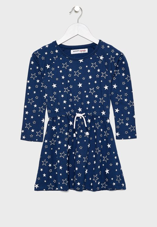 Little Stars Print Dress