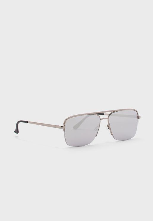 Poster Boy Rimless Aviator Sunglasses