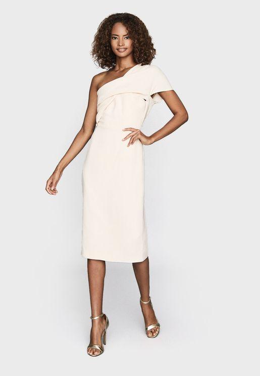 Riana One Shoulder Bodycon Dress
